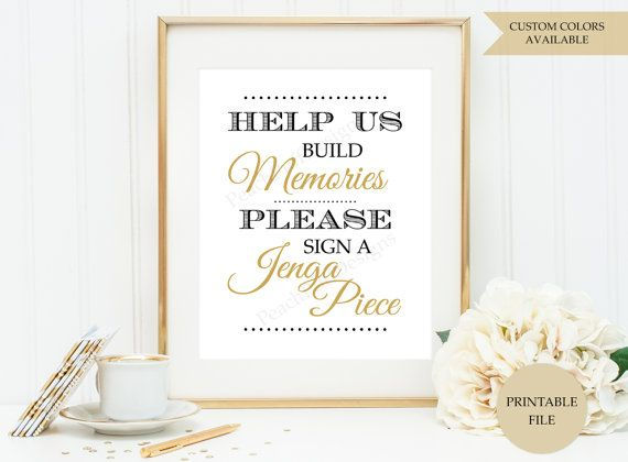 Bathroom Sign In Book jenga guest book sign (printable file) - jenga wedding sign