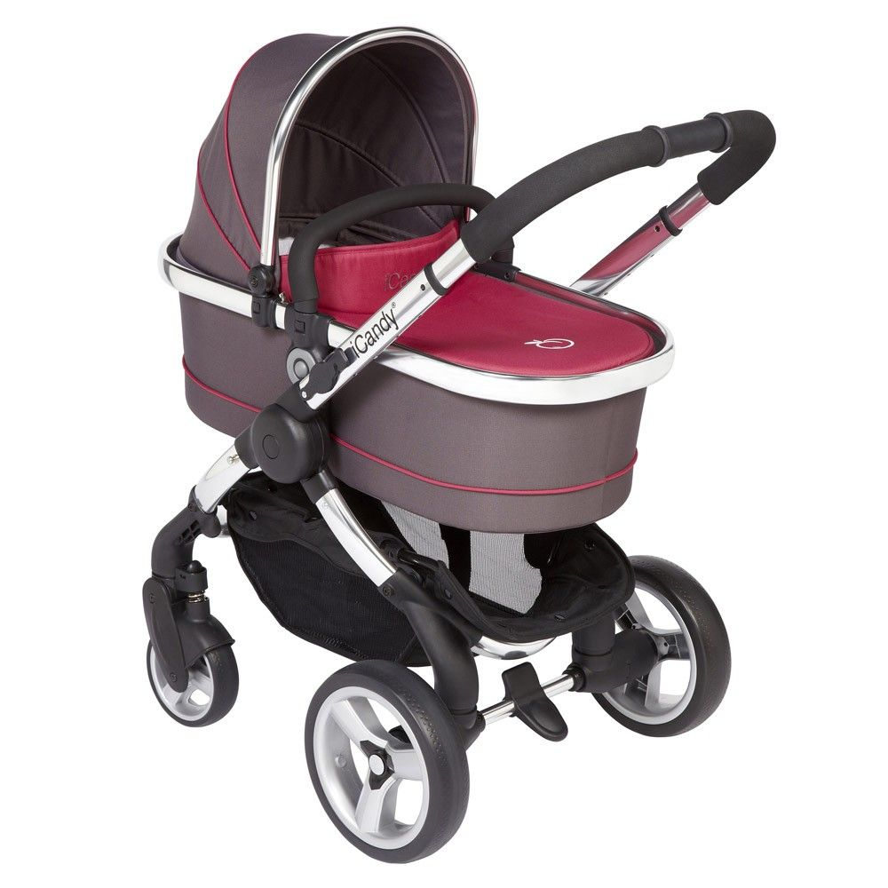 iCandy Peach 2 Stroller and Carrycot - Berry Bon Bon  at Winstanleys Pramworld. Must be purchased in store. Price not available online.