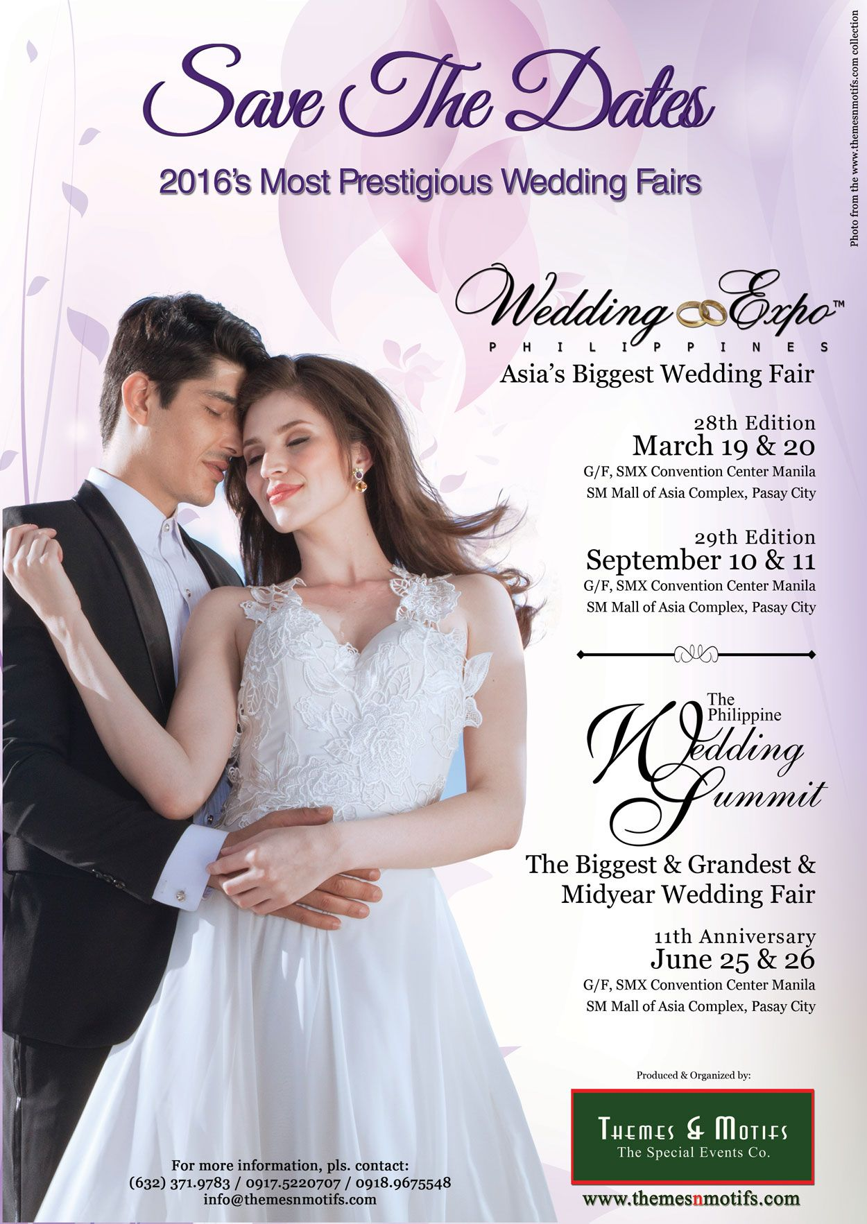 Save The Dates For 2016 S Most Prestigious Wedding Fairs Click On Photo For More Details Wedding Fair Wedding Expo Wedding Coordinator