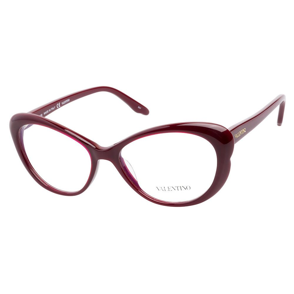 Valentino V2602 606 Rouge Noir eyeglasses are ravishingly seductive ...