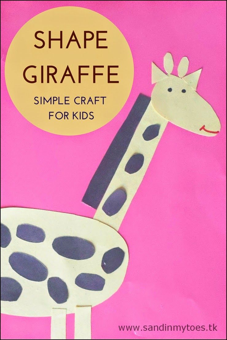 Sandinmytoes Tk Giraffe Crafts Shapes For Kids Animal Crafts For Kids [ 1106 x 739 Pixel ]