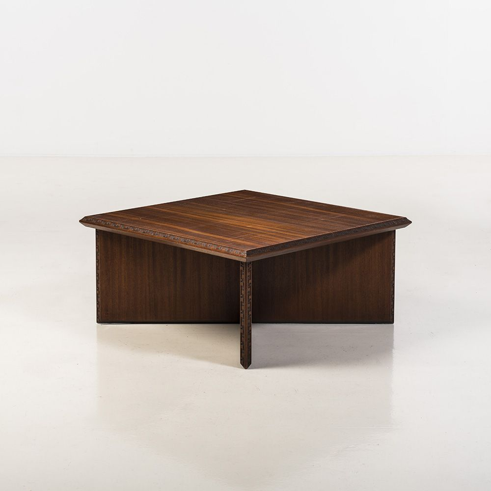 frank lloyd wright; mahogany coffee table for heritage henredon, Esstisch ideennn
