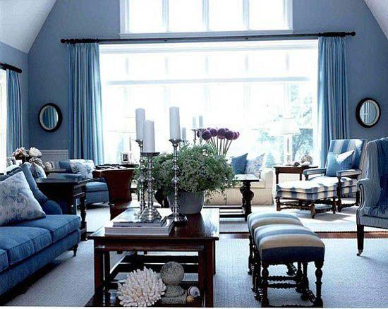 salon bleu 2 - Salon Bleu Et Gris