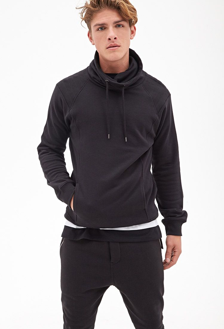 Quilted Cowl Neck Pullover Casual Sportswear Cowl Neck Pullover Camo Sweatshirt [ 1101 x 750 Pixel ]