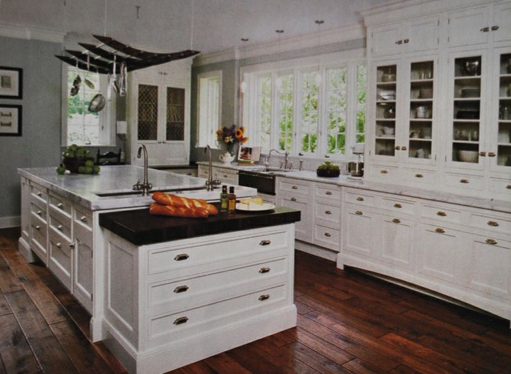 Marvelous Christopher Peacock Kitchen, Inset Shaker Cabinets