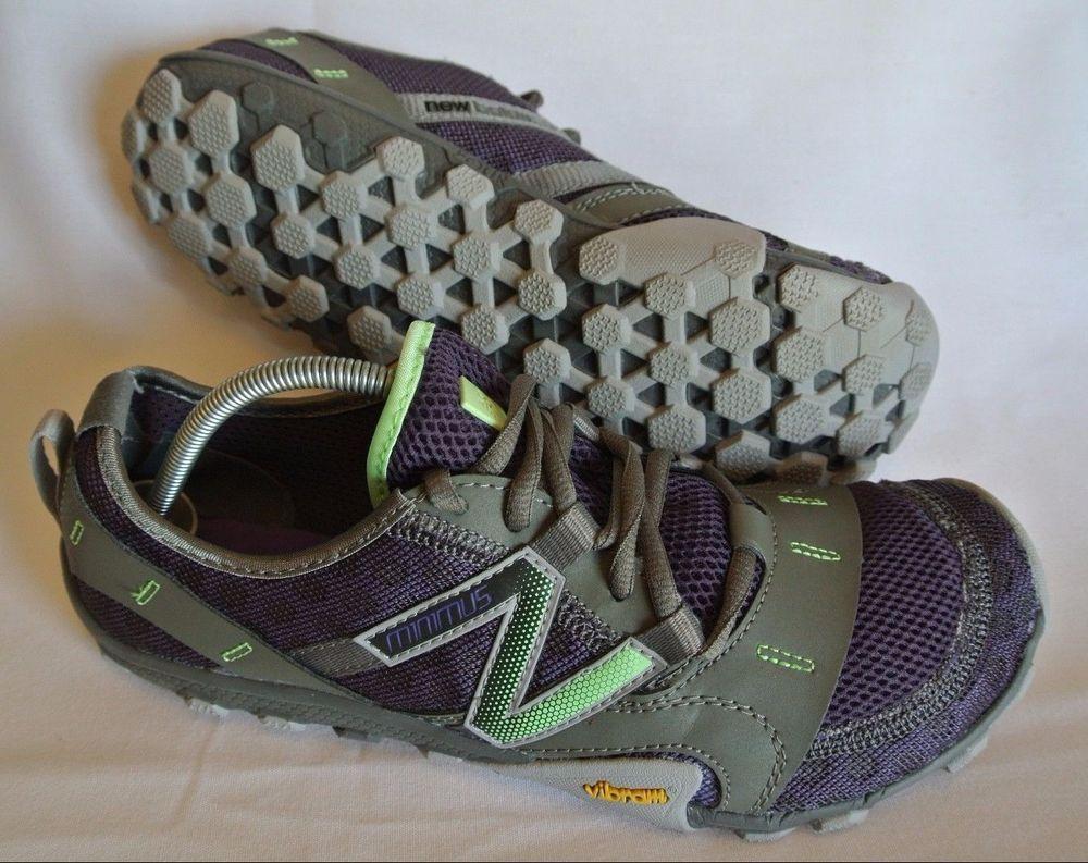 New Balance Minimus WT10 RE2 Running Shoes Gray/Purple/Green Vibram Women's  8.5 #