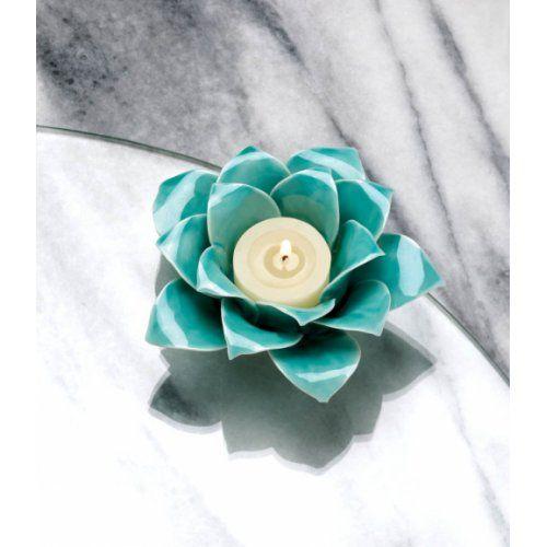 Home Locomotion - More Candleholders - Blue Lotus Tea Light Candle Holder