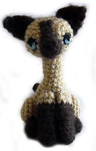 Guv the Kitten pdf crochet toy pattern siamese cat | Etsy | 500x318