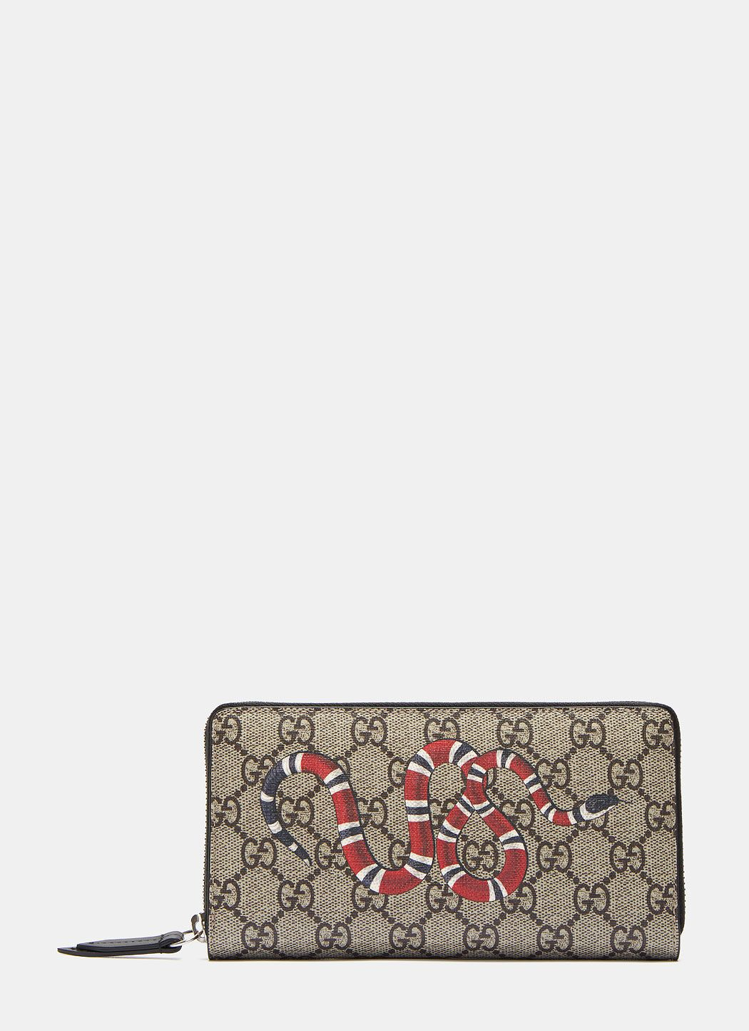 b0bbecdef6c1 GUCCI Men'S Gg Snake Long Zipped Wallet In Brown And Black. #gucci ...