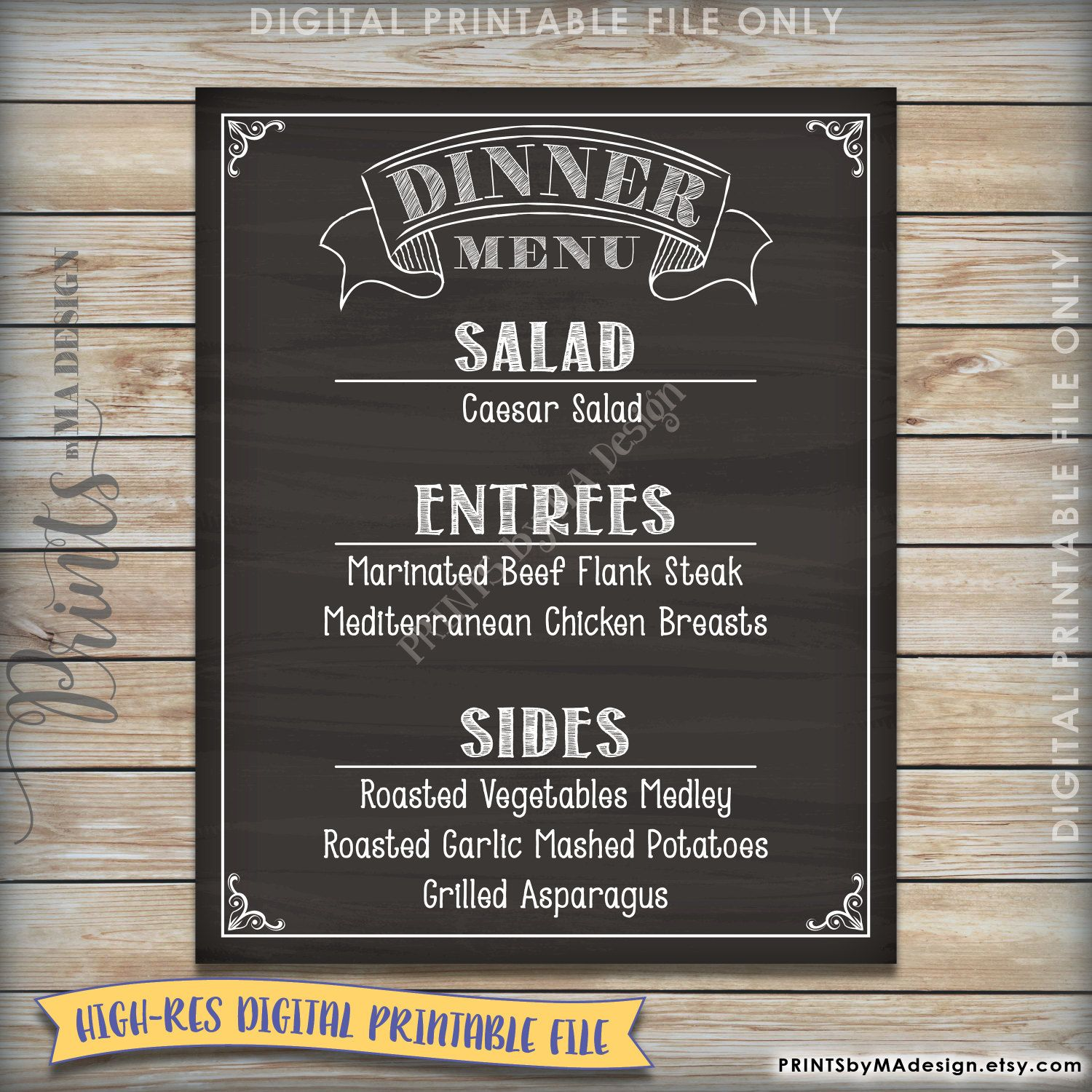 Digital Chalkboard Menu Boards Zoom Cafe Menu Digital Signage Template