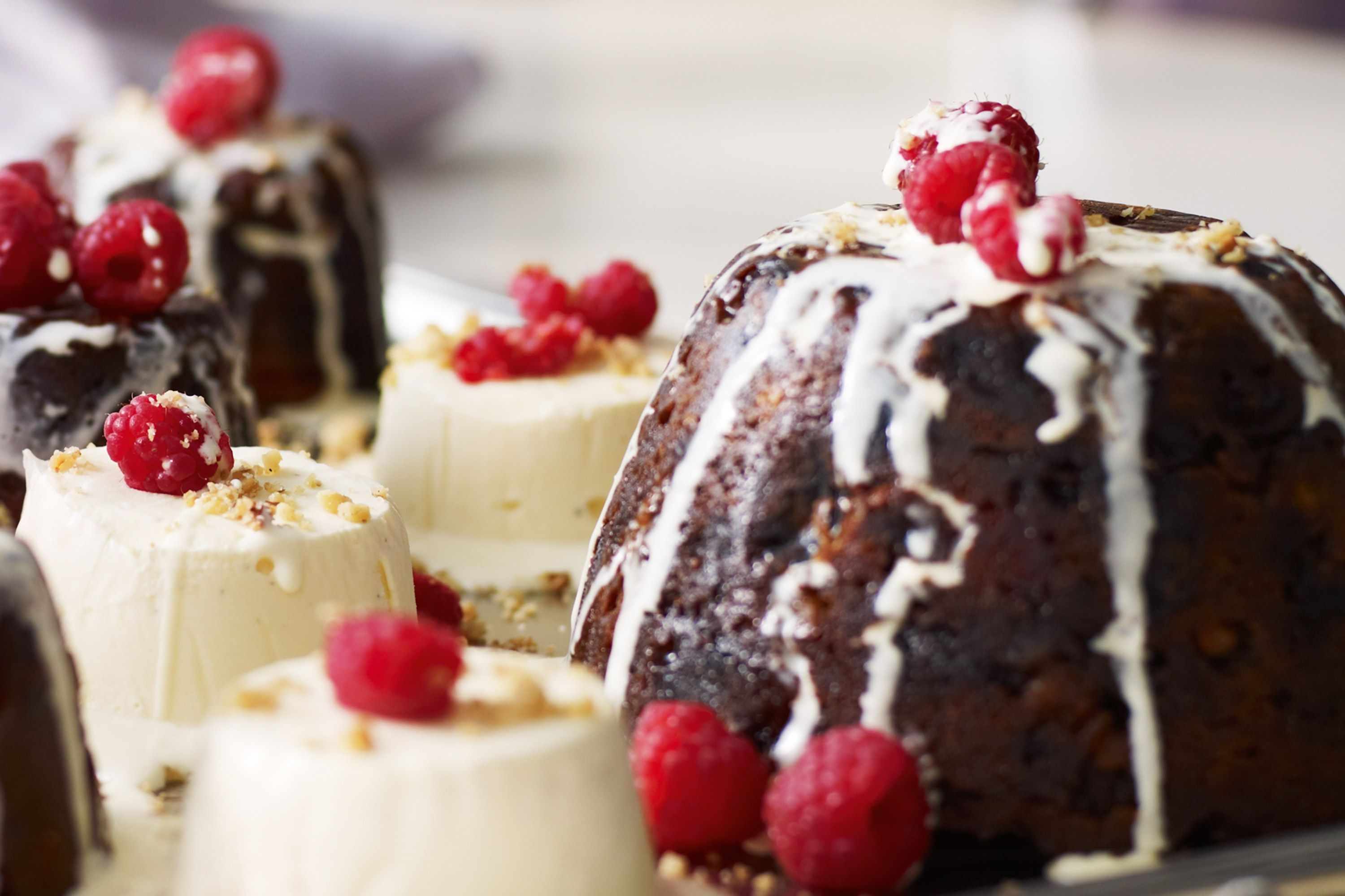 Give the traditional elements of Christmas a modern twist with these elegant festive puddings.