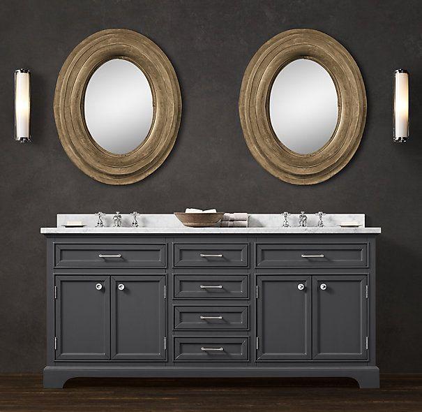 3195   RH Kent Double Vanity Sink Vanity Sink  72 W x 24. 3195   RH Kent Double Vanity Sink Vanity Sink  72 W x 24 D x 34 H