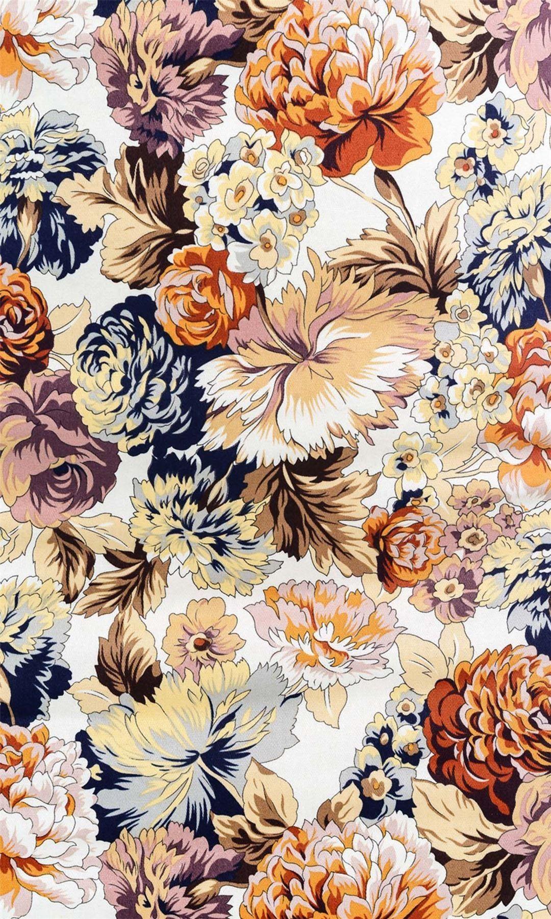 Vintage floral … | Vintage floral pattern, Floral ...