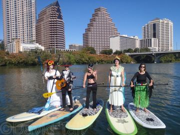 5th annual halloween costume paddle paddle boarding is huge on town lake - Halloween Stores Austin Texas
