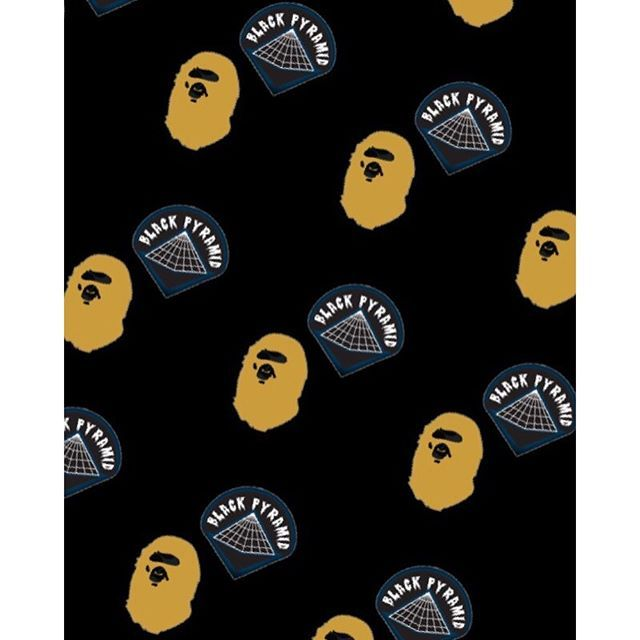 mulpix black pyramid x bape wallpaper all wallpapers are on my