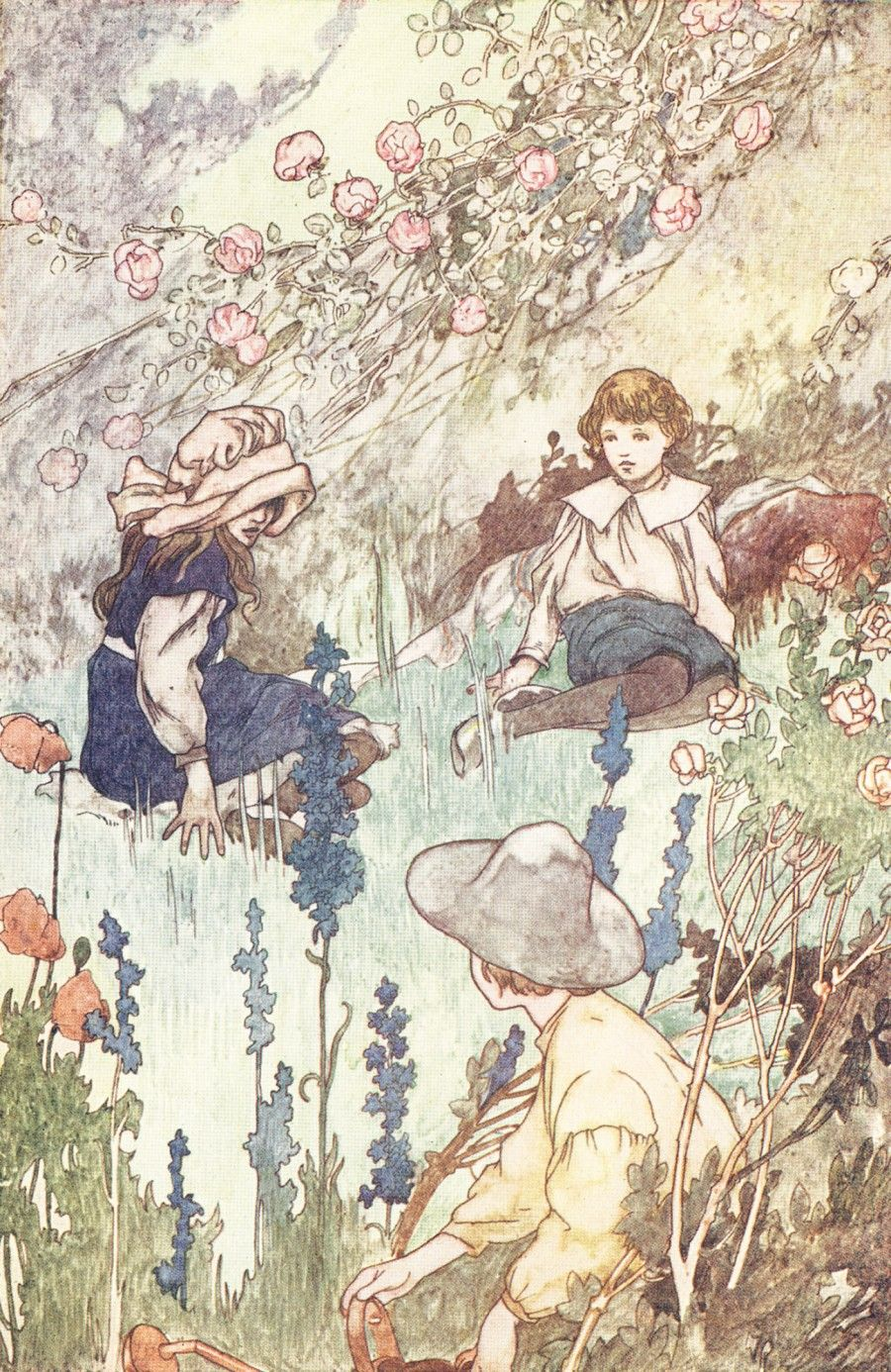 Secret Garden Kitchen Nightmares Charles Robinson Illustration For The Secret Garden Tales