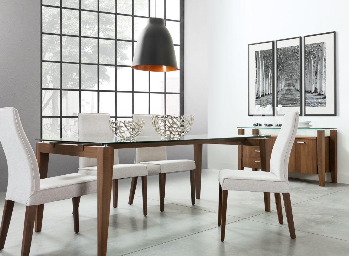 Val Salle A Manger Fini Noyer Fume Table Et 4 Chaises Home Decor Interior Furniture