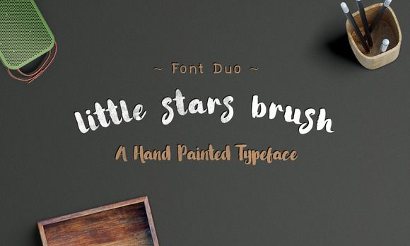 Little Stars Brush Font By Ijem Rockart