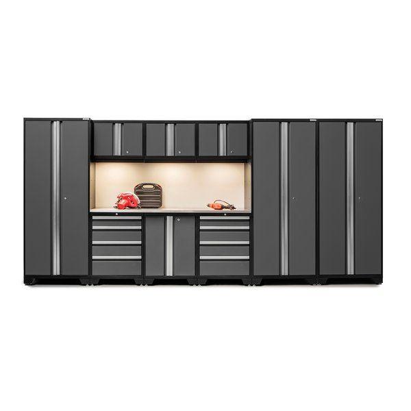 Newage Products Bold 3 0 Series 10 Piece Garage Storage Cabinet Set With Worktop Reviews Wayfair