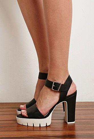 5830b3cfb0 Lug Sole Platform Sandals | Forever 21 | #stepitup | forever 21 ...