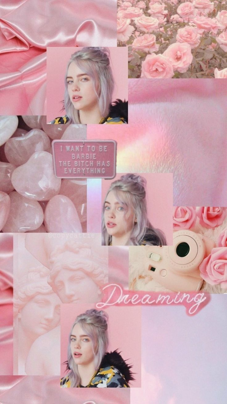 Pin By Katie On Wallpapers In 2020 Billie Pink Aesthetic Billie Eilish