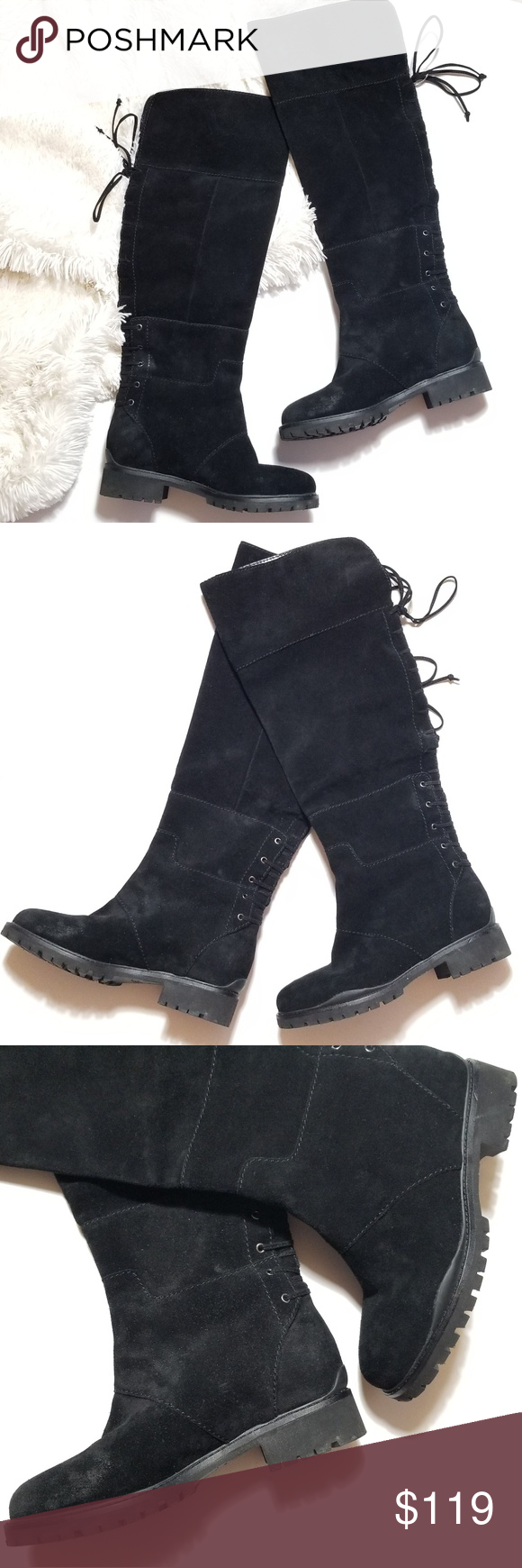 bc62b9aa28e NEW Nine West Mavira Suede Lace Up Over Knee Boots Embrace the Autumn  weather!