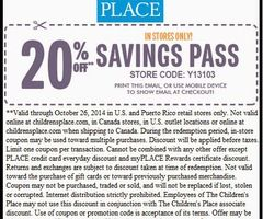 photograph relating to Childrens Place Printable Coupon named Totally free Printable Discount codes: Childrens Space Coupon codes Printable