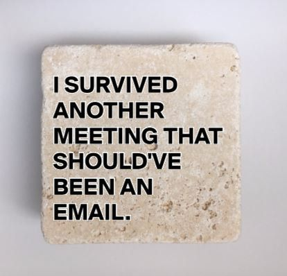 I Survived Another Meeting That Should Ve Been An Email Natural