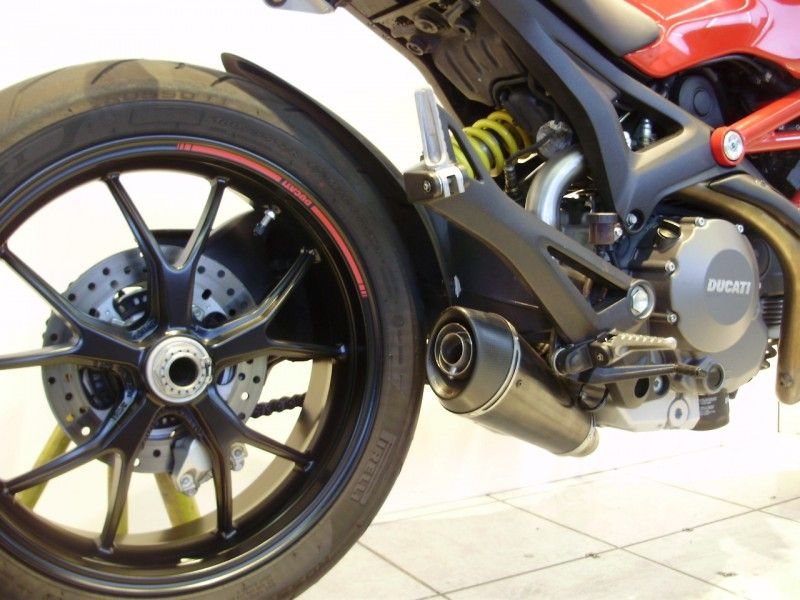Black Monster 696 with QD ExBox Exhaust. | Track bike