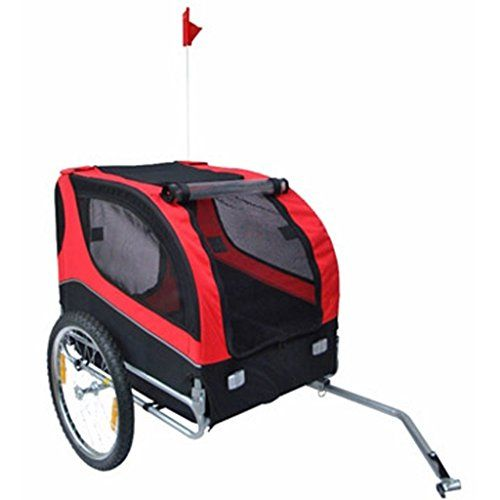 Vidaxl Dog Bike Trailer Red Read More Reviews Of The Product