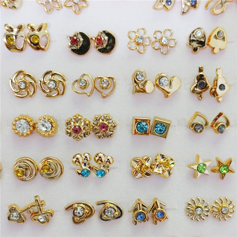 Small Gold Silver Fashion Kids Girls Stud Earrings | Small Gold ...