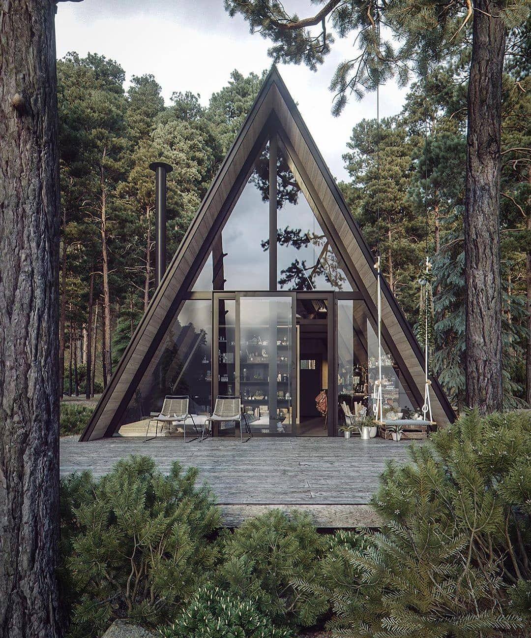 2 062 Aprecieri 14 Comentarii Architecture Design Arch Design Daily Pe Instagram Archdesigndaily Fo Forest House Architecture House Tiny House Cabin
