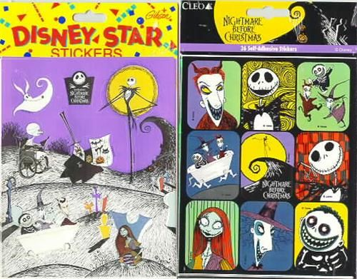 Nightmare Before Christmas 72 stickers - Toys by Stacy