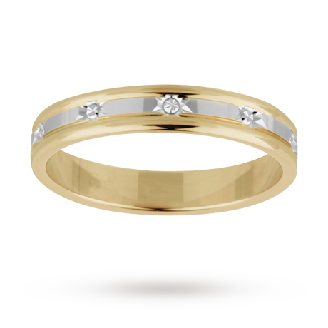 Las Wedding Ring In 18 Carat White And Yellow Gold Http Www