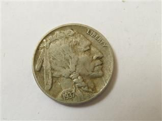 US 1937 D 3 Legged Buffalo Nickel Coin RARE  Featured in the US Coins Auction on July 25, 2013 HamptonAuction.com