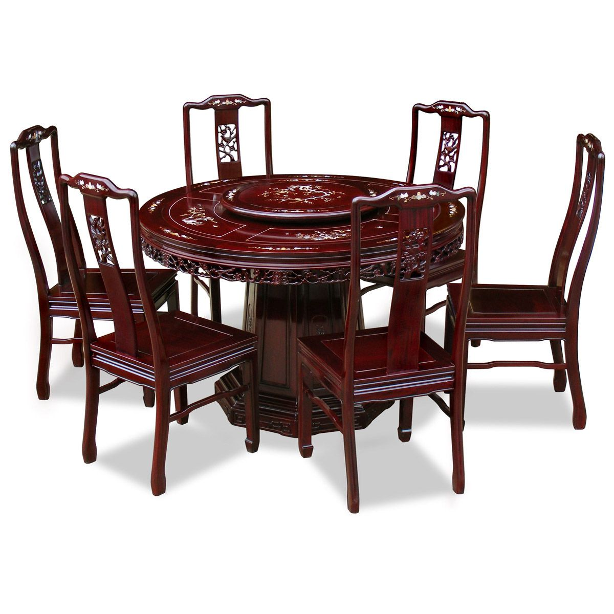 Bird Motif Round Dining Table