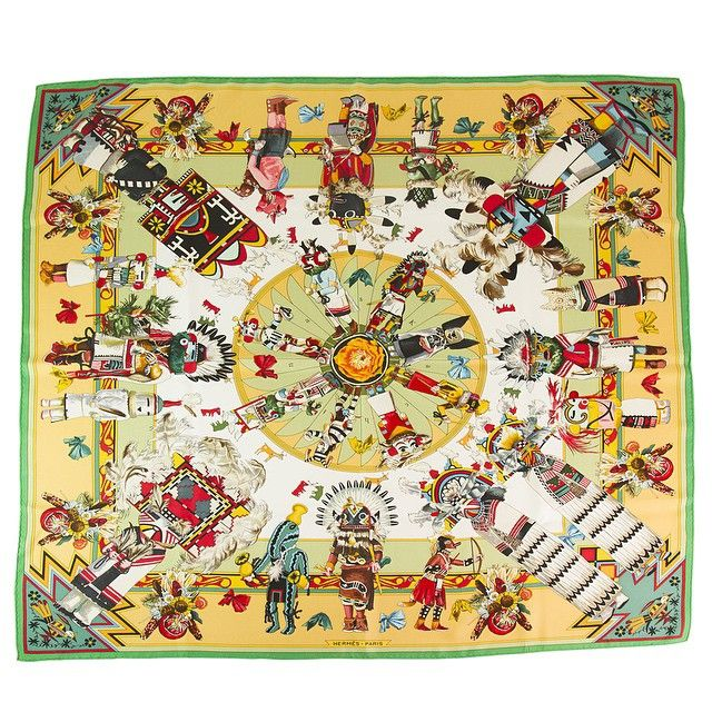 #Hermes #Kachinas Silk Scarf by Kermit Oliver. View online > http://bit.ly/1IgZODV #lookbook  #fashiongrammers #todayslovely #love #beautiful #likeforlike  #like4like #fashionslots #fashionaddict #fashiontalk  #fashion #styleblog #style #sffashion #chic #stylegram #fashiondaily #musthave #authenticonly #personalshopper #luxury #brandedstuff #bestprice #bestseller #swapshopgr For further inquiries please contact us at info@swapshop.gr or at +302108941100 ✈️✈️Worldwide Shipping✈️✈️