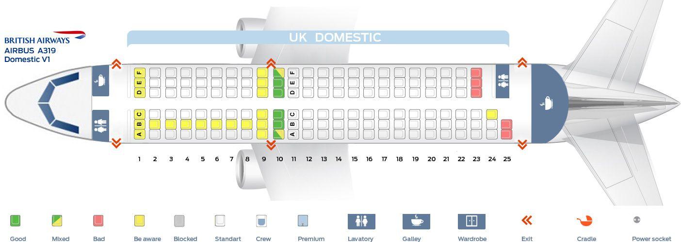 British Airways Fleet Airbus A319 100 Details And Pictures Dengan