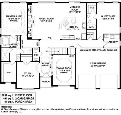 One story ranch style house plans homes single for One story house plans with bonus room above garage