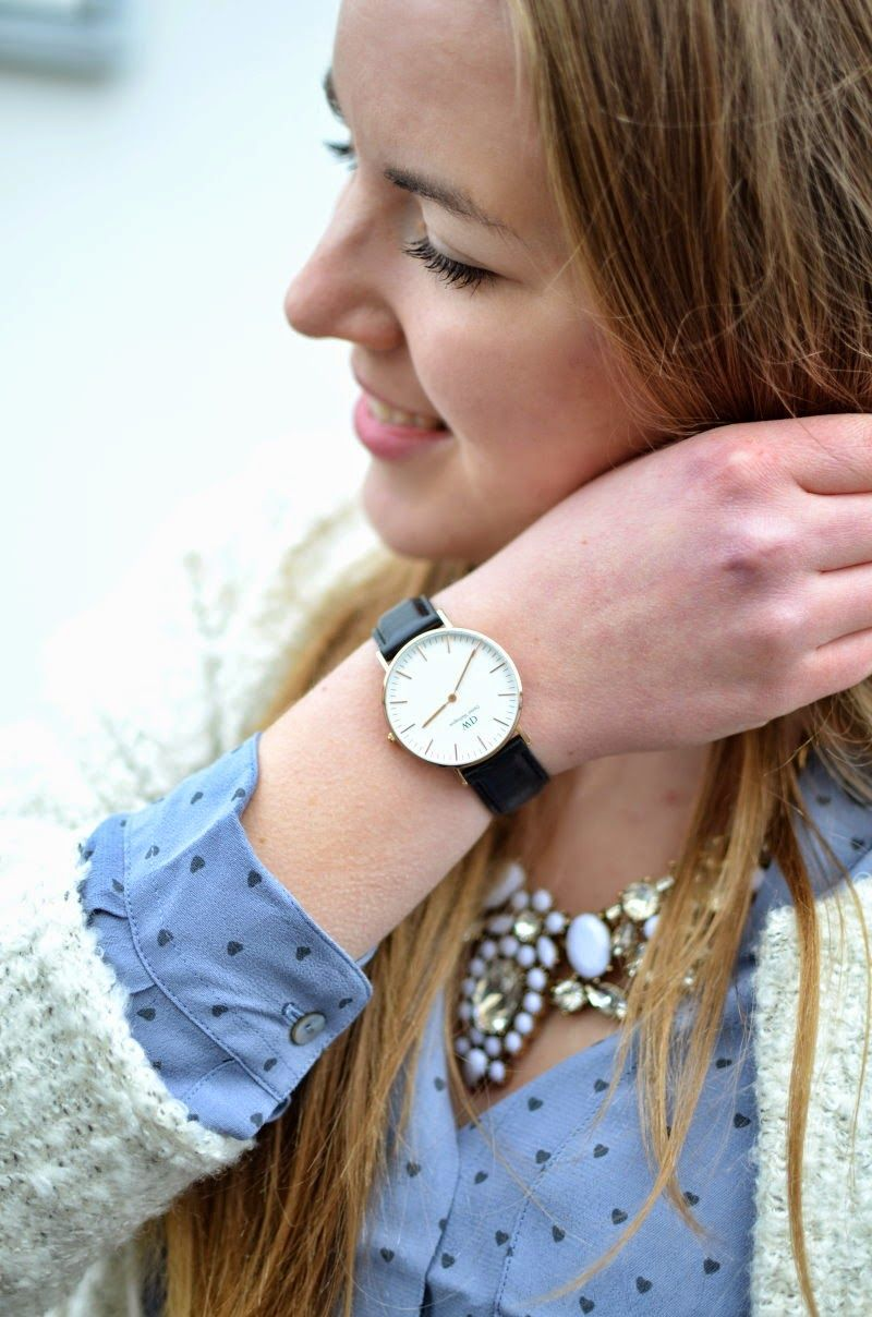 OVERSIZED CARDIGAN - Vintage life en Vogue - Daniel Wellington watch