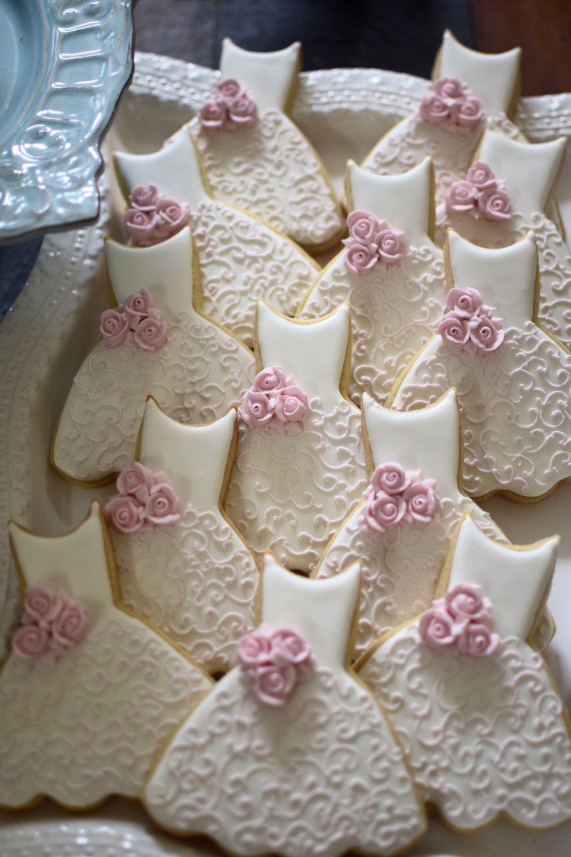 Bridesmaid dress cookies 10 pieces cookie favors wedding
