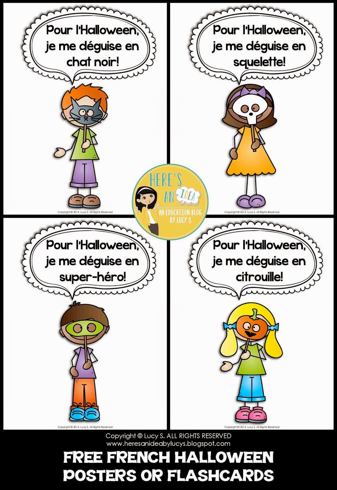 french interactive halloween activities a selection of french halloween videos and a freebie. Black Bedroom Furniture Sets. Home Design Ideas