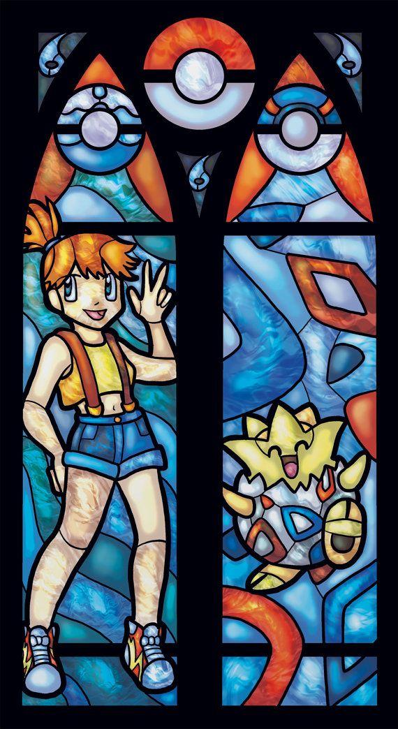 Vidrieras Pokemon impresión de Misty y Staryu o por FayProductions
