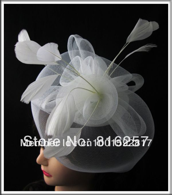 Free shipping  retail and wholesale3 color  high quality  fascinator hats,very nice bridal hair accessoires,FS06