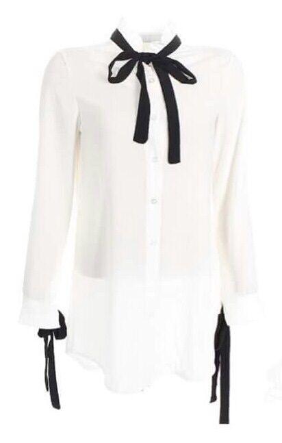 lange blouse met strik