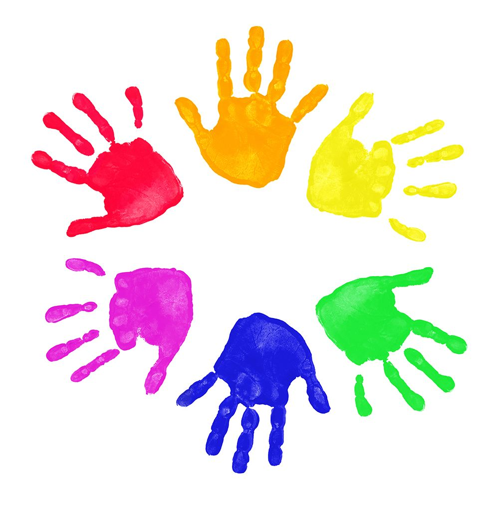 Children Hand Print - ClipArt Best | Hand clipart, Rainbow ...
