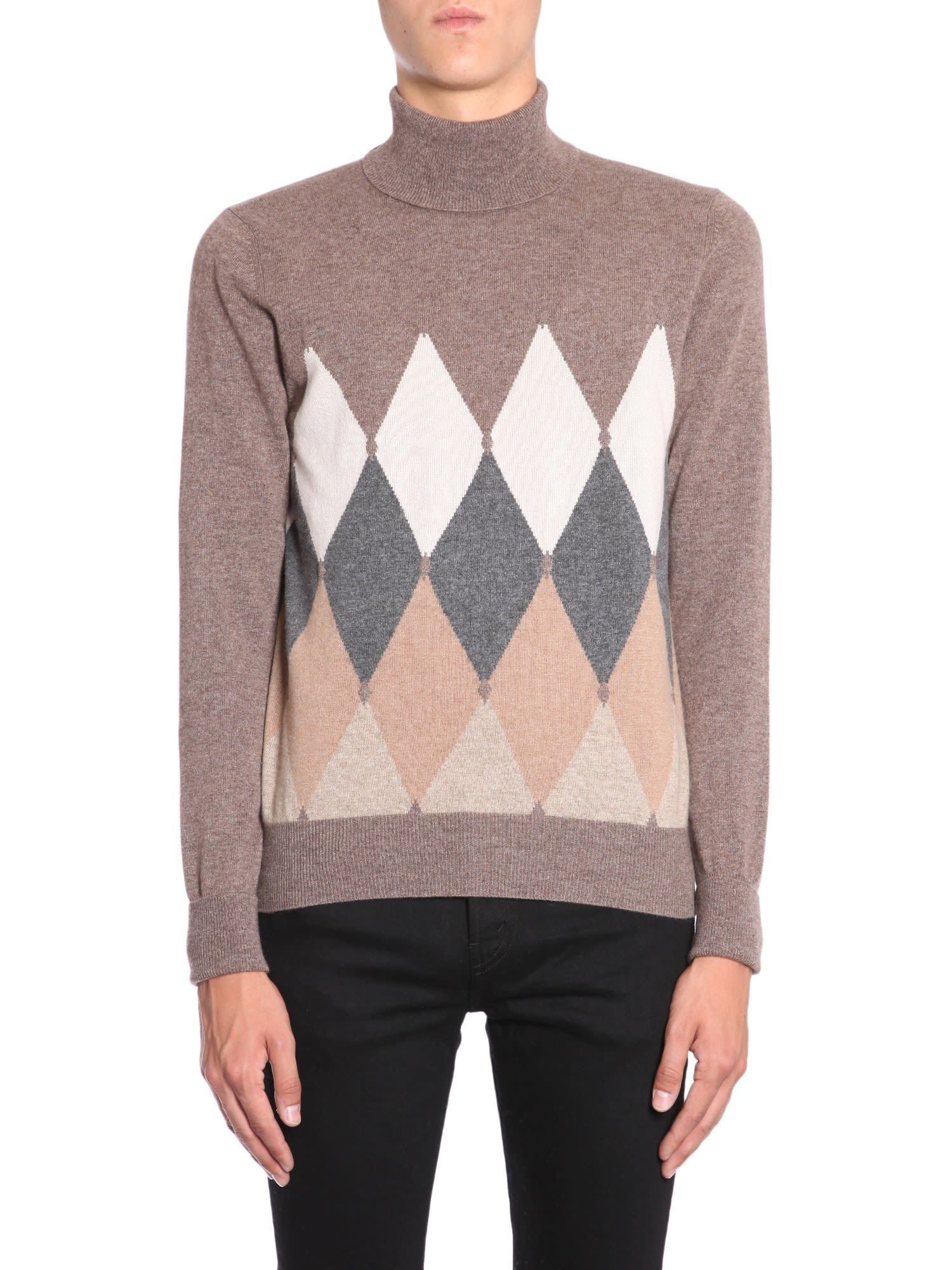 Ballantyne argyle knit sweater | メンズ