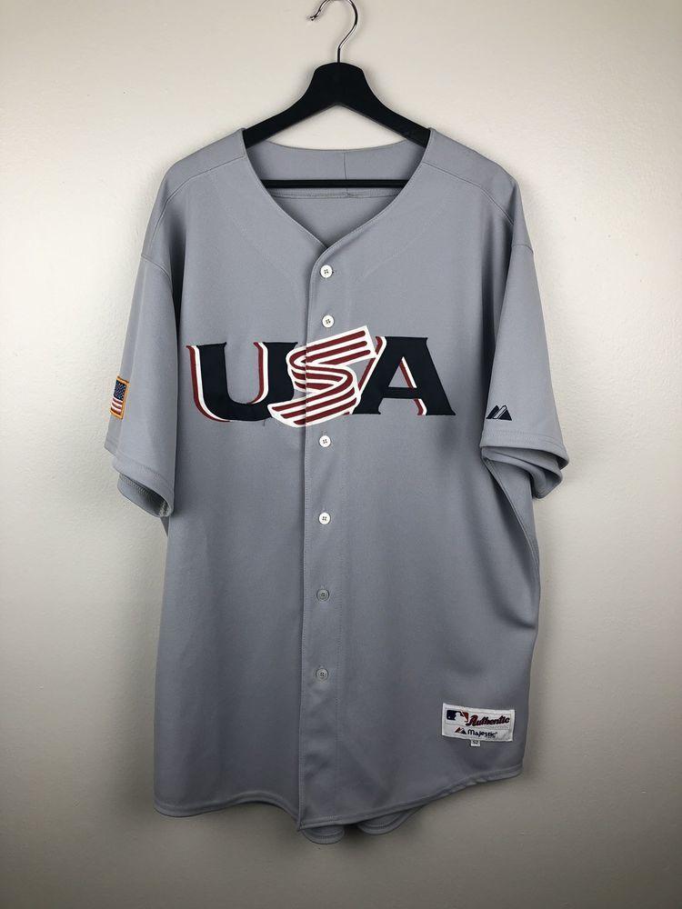 Majestic Mlb Usa Baseball Jersey Size Xxl Free Shipping Ebay Usa Baseball Baseball Vintage Clothes 90s