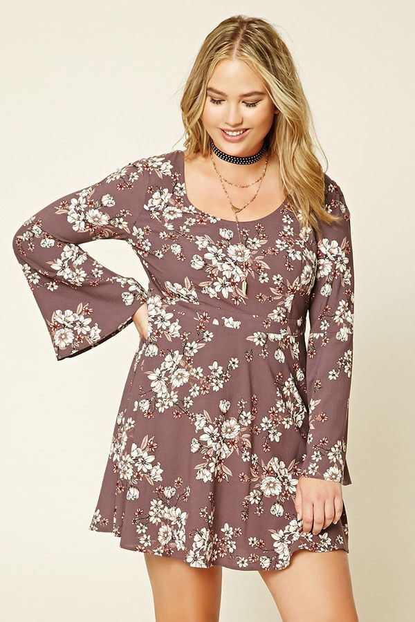 adc1174d8b01 FOREVER 21+ Plus Size Floral Print Dress