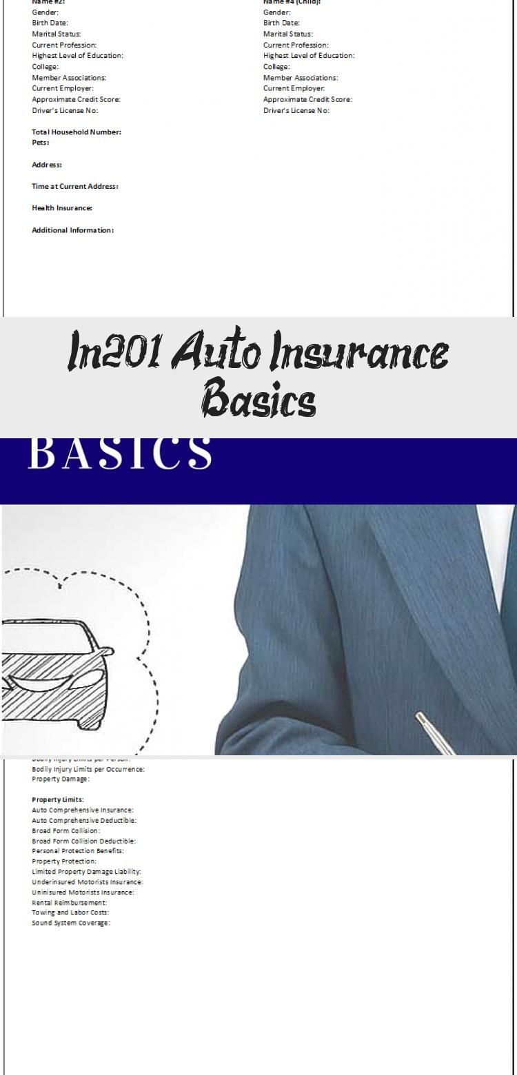 In201 Auto Insurance Basics In 2020 Car Insurance Insurance